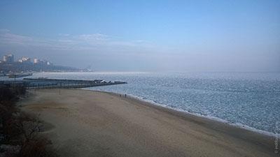 черное море обледенело Одесса