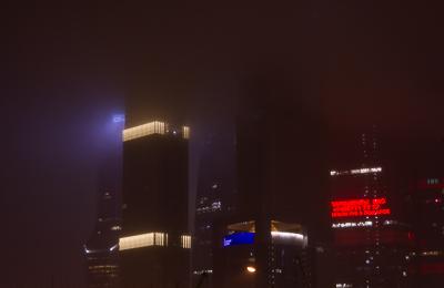 превью москва сити туман
