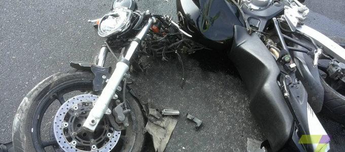ДТП на Среднефонтанской мотоцикл vs Nissan