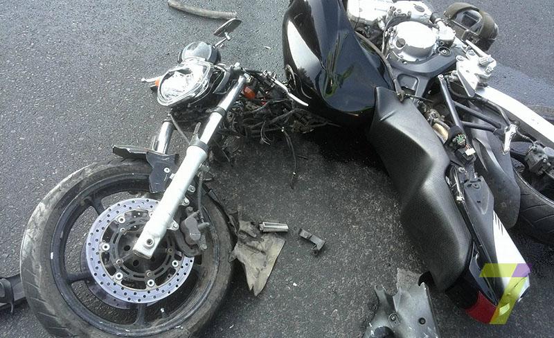 ДТП на Среднефонтанской мотоцикл против Nissan