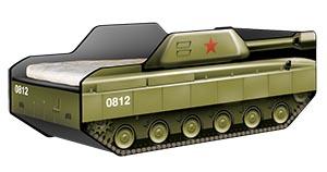 кровать детская в форме танка