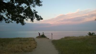 фото, закат, собачий пляж
